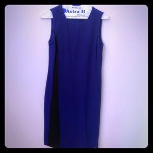 Donna Karen royal blue & black dress